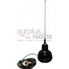 Tram 1154 VHF 3dBd Gain 5/8 Wave Magnet Mount Antenna Kit with PL259 Connector