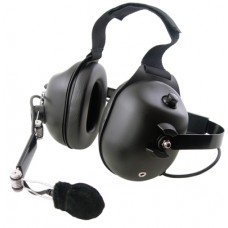 Pryme HDS-EMB dual muff high noise Behind-the-head headset (Requires K-Cord)
