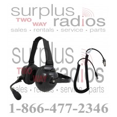 Pryme HDS-EMB + K-CORD K2 Dual Muff Racing Headset and K-Cord Kit for Kenwood K2 NX200 NX300 TK3180 TK2180 and more