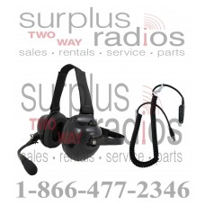 Pryme HDS-EMB + K-CORD M4 Dual Muff Headset and K-Cord Kit for Motorola M4 Radio HT750 HT1250 HT1250LS MTX850 MTX950 and more