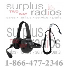 Pryme HDS-EMB + K-CORD M7 Dual Muff Racing Headset and K-Cord Kit for Motorola M7 Radio XPR6300 XPR6350 XPR6500 XPR6550 TRBO series