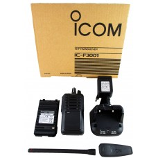 Icom F3001 02 DTC VHF 5 watt 16 channels 136-174 MHz portable radio