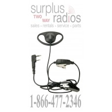 Kenwood KHS-27 D-Ring earpiece and boom microphone with PTT switch for TK2402 TK3402 TK2312 TK3312 NX220 NX320 TK3230