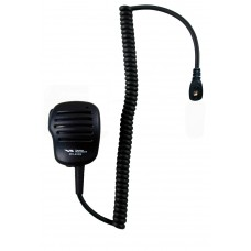 Vertex MH-450S remote speaker microphone with standard single pin audio connector and lapel clip