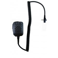 Vertex heavy duty noise cancel remote speaker microphone with standard single pin audio connector and lapel clip