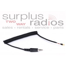 Rugged Radios HKP-CC-I/O Helmet Kit Part: Coil Cord with IMSA/OFFROAD/Peltor Plug