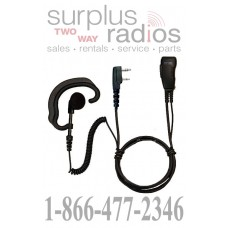 Pryme SPM-301EB Responder earhook headset with coil cord receiver for Kenwood dual pin connector models