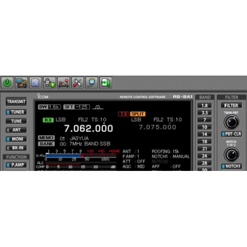 NEW ICOM RS-BA1 IP Remote Control Software for Station over the Internet