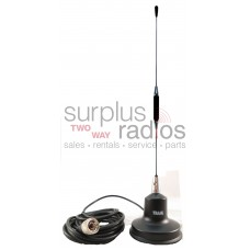 Tram 1170 UHF 4.5dBd gain 438-485MHZ 5/8 Wave Over 1/2 Wave Center Loading Coil Magnet Mount Antenna Kit with PL259 Connector