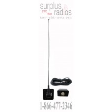 """Tram Browning 1187 28"""" 1/2 glass mount UHF 450-470mhz 4.5dBd antenna kit with 17ft of RG-58/U cable and PL-259"""