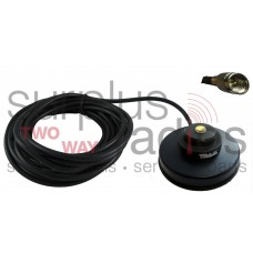 "Tram Browning 1233-MUHF Black 3 1/2"" Solid Coax Magnet Mount Kit with 17FT Cable and Mini UHF Connector Installed"