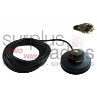 "Tram Browning 1235 UHF/PL-259 Black 3 1/2"" Solid Coax Magnet Mount Kit with 17FT Cable and UHF/PL-259 Connector Installed"