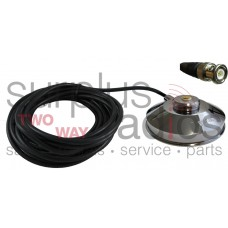 "Tram Browning 1237-BNC Chrome 3 1/2"" Solid Coax Magnet Mount Kit with 17FT Cable and BNC Connector Installed"