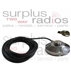 "Tram Browning 1237-MUHF Chrome 3 1/2"" Solid Coax Magnet Mount Kit with 17FT Cable and Mini UHF Connector Installed"