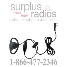 D ring shape earpiece with push to talk for Kenwood TK3160 TK2160 TK2170 TK2200 TK3360
