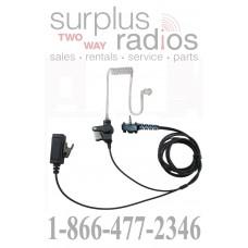 Two wire surveillance headset with push to talk for Vertex YEASUE VX160 VX180 VX210 VX351