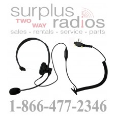 Single ear over head style headset E348 S6 with boom mic for Icom F11 F21 F24 F14 F4011 F3011 F4001 F3001