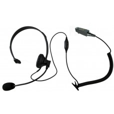 Single ear over head style headset for Icom F30 F40 F50 F60 M88 F70 F80 F3061 F4061 F3161 F4161 F70 F80 radios with multi pin accessory port