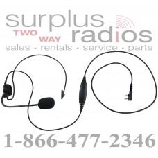 Single ear headset E395 K1 with push to talk for Kenwood TK3160 TK372 TK2160 TK272 TK3170