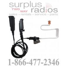 Pryme SPM2300-H8 medium duty 2 wire surveillance headset for DMR Hytera X1 series radios