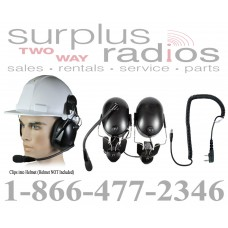 Pryme HBB-EM-HMB + K-Cord K1 Construction Hard Hat Headset and K-Cord K1 Kit for Kenwood TK3230 TK3312 TK2312 NX320 NX220 TK3402