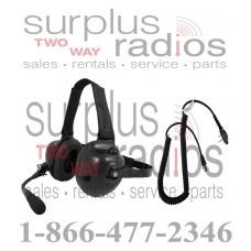 Pryme HDS-EMB + K-CORD S8 Dual Muff Racing Headset and K-Cord Kit for Icom S8 F50 F60 F4161 F3161 F70 F80 F70D