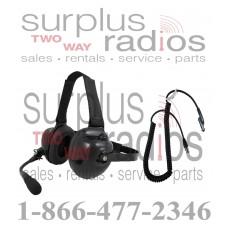 Pryme HDS-EMB + K-Cord Y5 Dual Muff Racing Headset and K-Cord Kit for Vertex Y5 Radio VXD-720 VX-821 VX-824 VX-829 VX-924