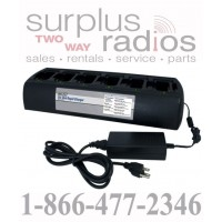 Power Products TWC6M + 6 TWP-MT16 6 Unit Bank Gang Rapid Charger for Motorola XPR6500 XPR6300 XPR6350 XPR6550 XPR6580 and more