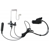 3 wires surveillance headset with push to talk for Motorola M3 HT1000 MTS2000 XTS3000 XTS5000 MTX and more