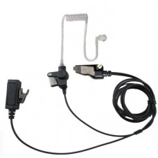 Two wire surveillance headset with push to talk for Kenwood TK-2140 TK-2180 TK-3140 TK-3148 TK-3180 TK-2260 NX-200 NX-210 NX-300 and more