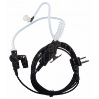 Two wire nylon surveillance headset with push to talk for Motorola two pin CP200 CP185 PR400 P1225 GP300 and more