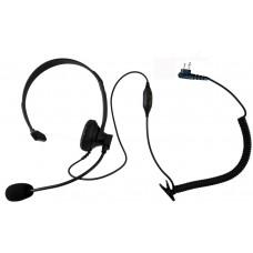 Single ear headset with push to talk and VOX for Motorola SP10 SP50 SPIRIT MU11C MU21CV GP300 P1225 GTX800 CP200 PR400 CT250 XTN XV1100 XV2600 XU2100 radios and more