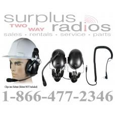 Pryme HBB-EM-HMB + K-Cord M1 Construction Hard Hat Headset and K-Cord M1 Kit for Motorola Radio RDU2020 RDV2020 RDU4100 RDV5100