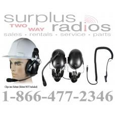 Pryme HBB-EM-HMB + K-Cord M7 Construction Hard Hat Headset for Motorola Radio XPR6550 XPR6500 XPR6350 XPR6580