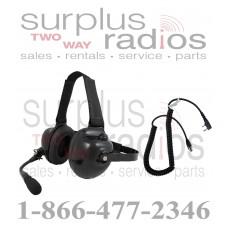 Pryme HDS-EMB + K-CORD K1 Dual Muff Racing Headset and K-Cord Kit for Kenwood K1 TK3160 TK2160 TK3360 TK3312