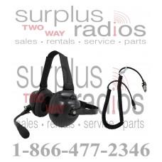 Pryme HDS-EMB + K-CORD K2 Dual Muff Racing Headset and K-Cord Kit for Kenwood K2 NX200 NX300 TK3180 TK2180 and more