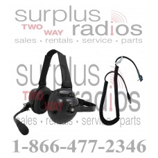 Pryme HDS-EMB + K-CORD Y4 Dual Muff Racing Headset and K-Cord Kit for Vertex Y4 Radio VX160 VX231 VX351 VX354 VX451 VX454 VX459