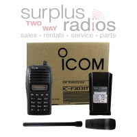 Icom F3031T 91 VHF 5 watt 128 channel W/8 zones 136-174 MHz portable radio