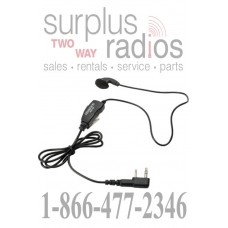 Kenwood KHS-26 clip microphone with earbud for TK2402 TK3402 TK2312 TK3312 NX220 NX320 TK3230