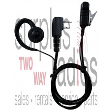 Pryme LMC-1GH00IL S3 Pro-Grade G-Hook headset with noise reduction mic for Icom radios with 2 pin connectors