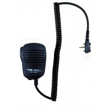 Vertex compact speaker microphone with standard single pin audio connector