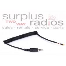 Rugged Radios HKP-CC-I/O Helmet Kit Part: Coil Cord with IMSA/OFFROAD/Peltor Plug