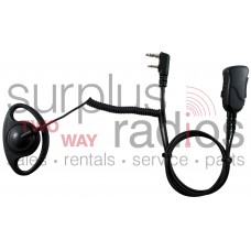 Pryme SPM-1201 Defender premium D ring headset  with push talk for Kenwood 2 pin portable radios