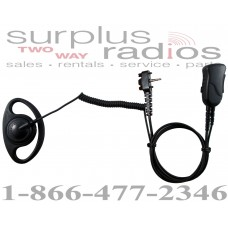 Pryme SPM-1222S Defender D ring headset with 2 screws for single pin Vertex VX231 VX350 VX450 EVX530series radios