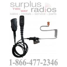 Pryme SPM-1355 Mirage series medium duty 2 wire surveillance headset for DMR Hytera radios