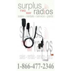 Pryme SPM-1383 2 wire surveillance headset with coil cord receiver for Motorola Trbo radios