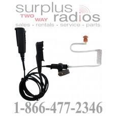 Pryme SPM-2300-M11 medium duty 2 wire surveillance headset for Motorola MotoTRBO XPR3300 XPR3500 series radios
