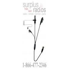 Pryme SPM-3305 QD BULLET™ Surveillance Style Lapel Mic with Compact Speaker