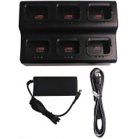 SRcommunications 6-Unit gang charger for SR-D1 portable radios