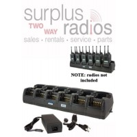 Power Products TWC12M + TWP-MT3-D 12 Unit Rapid Gang Charger for Motorola CP150 CP200 CP200D PR400 EP450 and more